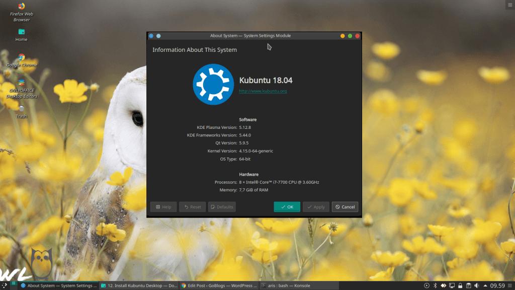 About System Kubuntu
