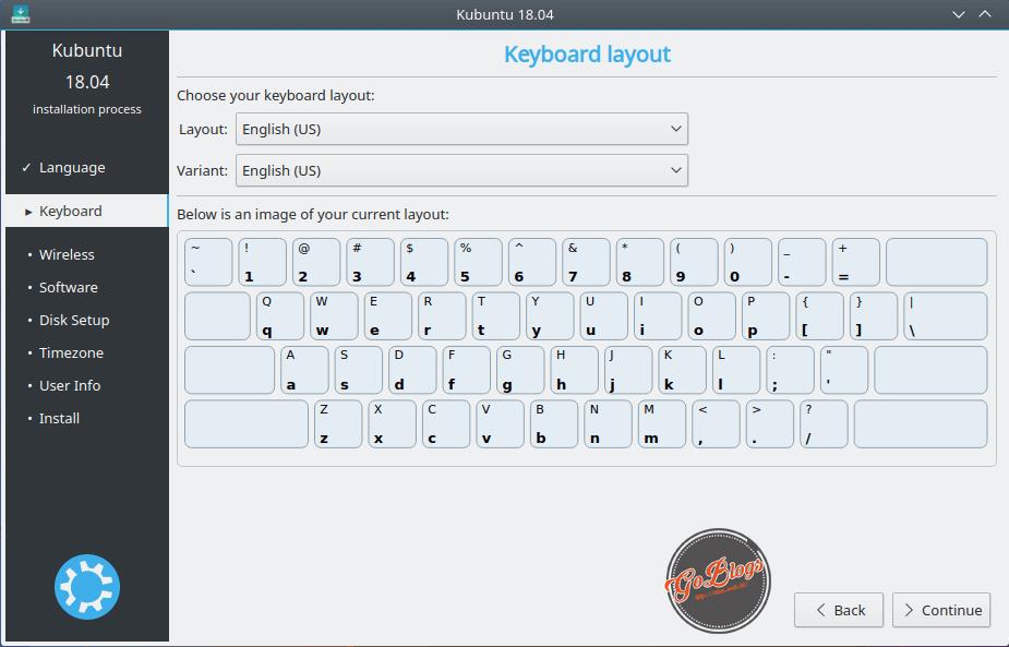 Install Kubuntu 18.04 Keyboard Layout