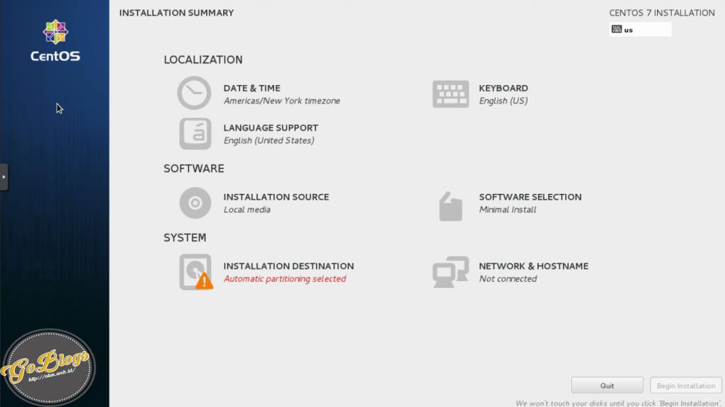 installation summary linux centos 7 akm.web.id goblogs