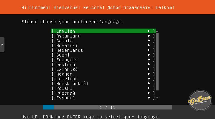 pilih bahasa cara install ubuntu server 18.04 goblogs akam.web.id